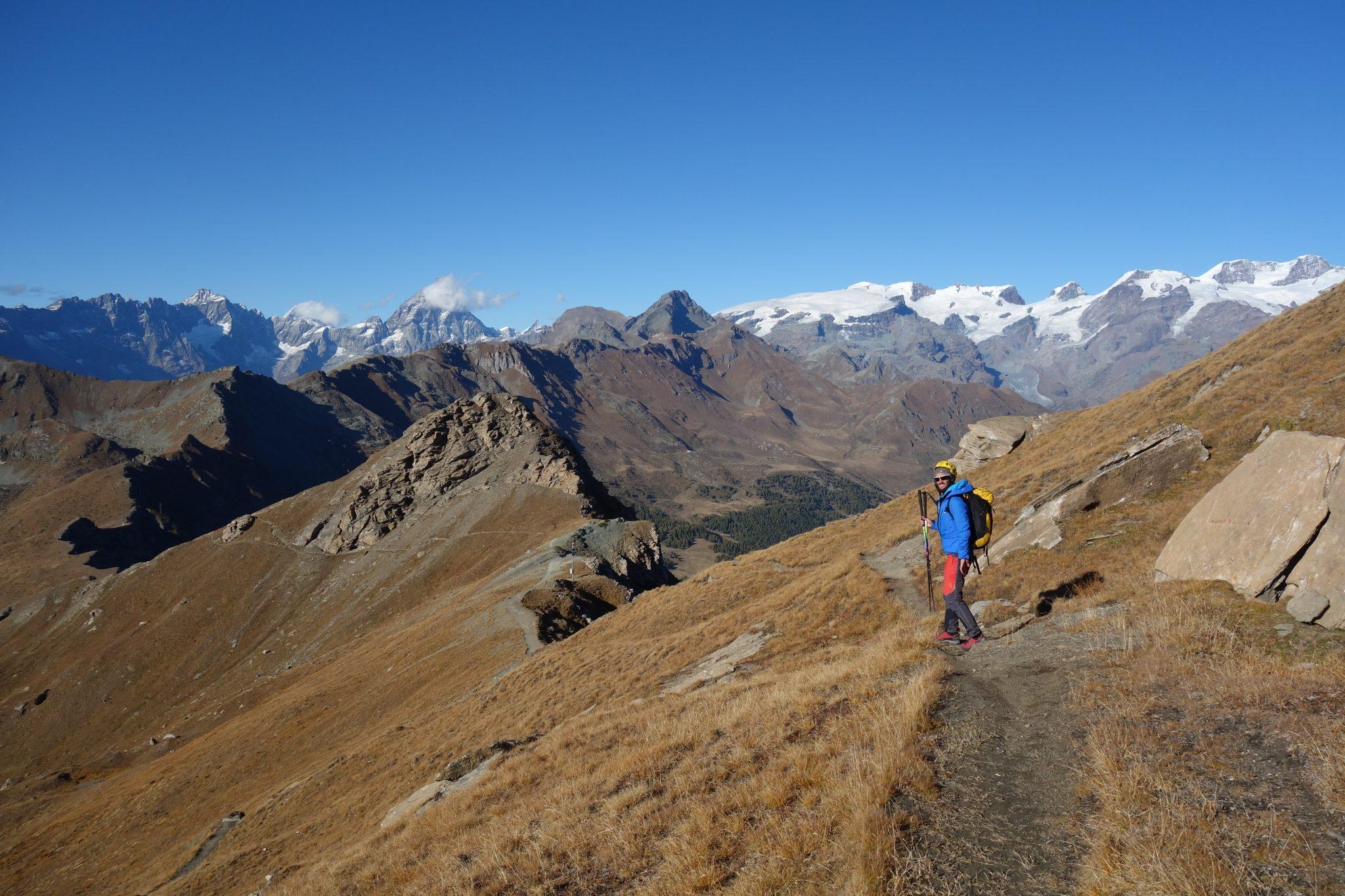 Sulla cima del Corno Maria, nel gruppo del Monte Rosa