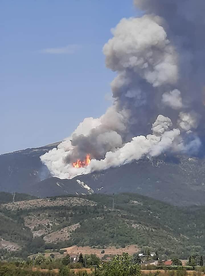 Incendio Arischia